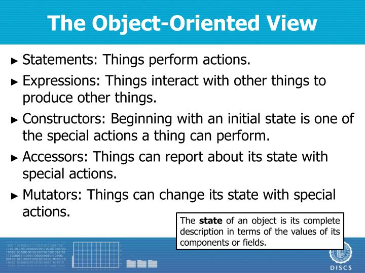 The Object-Oriented View