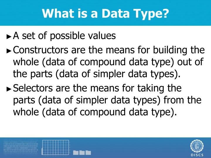 What is a Data Type?