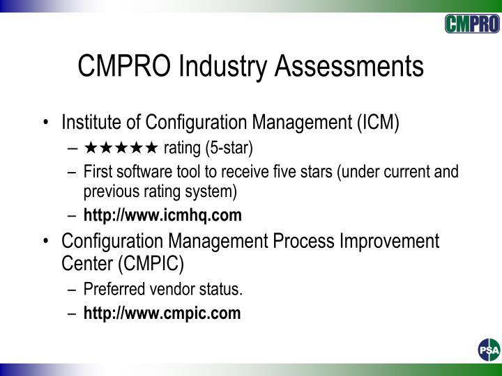 CMPRO Industry Assessments