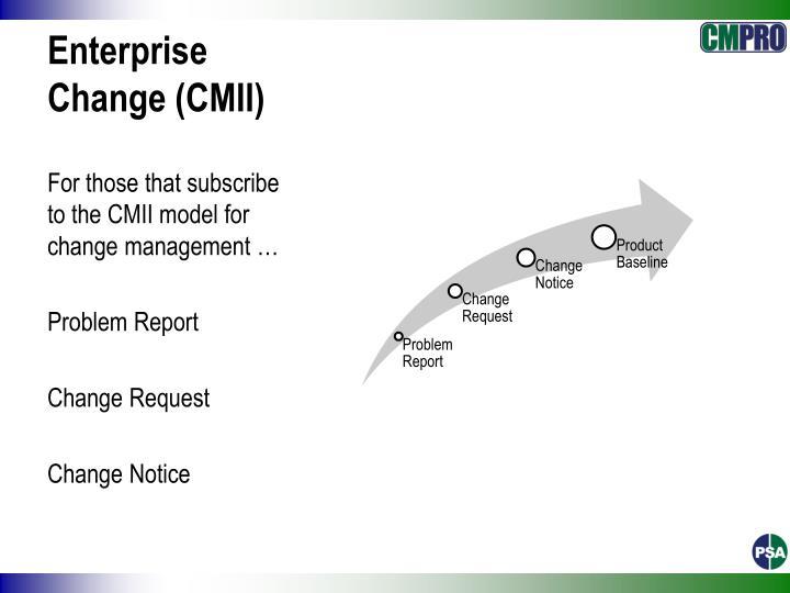 Enterprise Change (CMII)