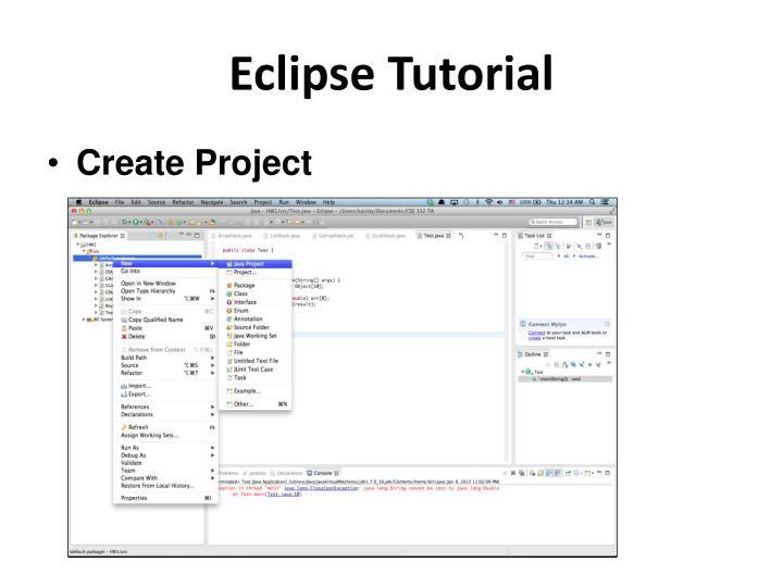 Eclipse Tutorial