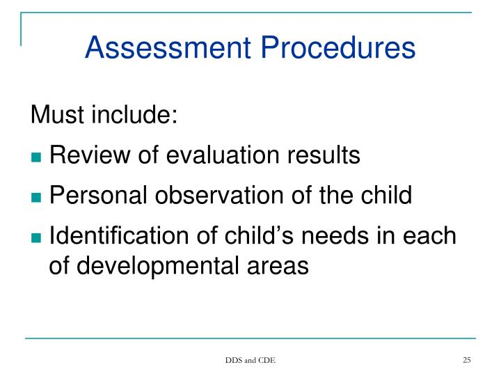 Assessment Procedures