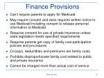 finance provisions