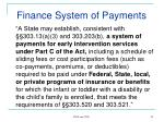 finance system of payments