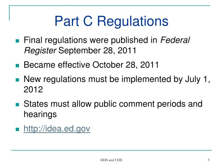 Part C Regulations