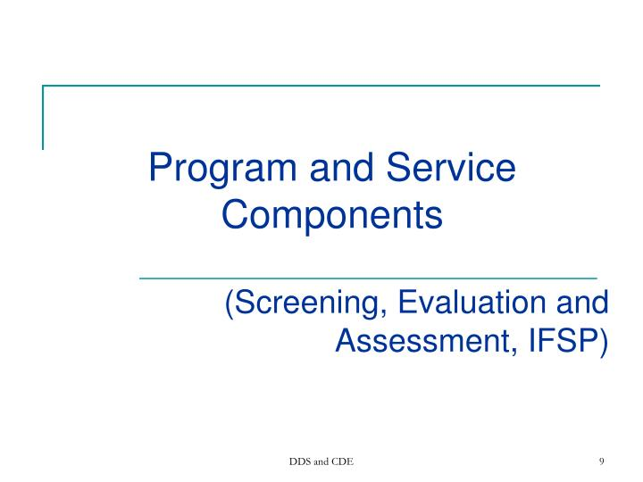 Program and Service Components