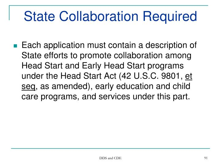 State Collaboration Required