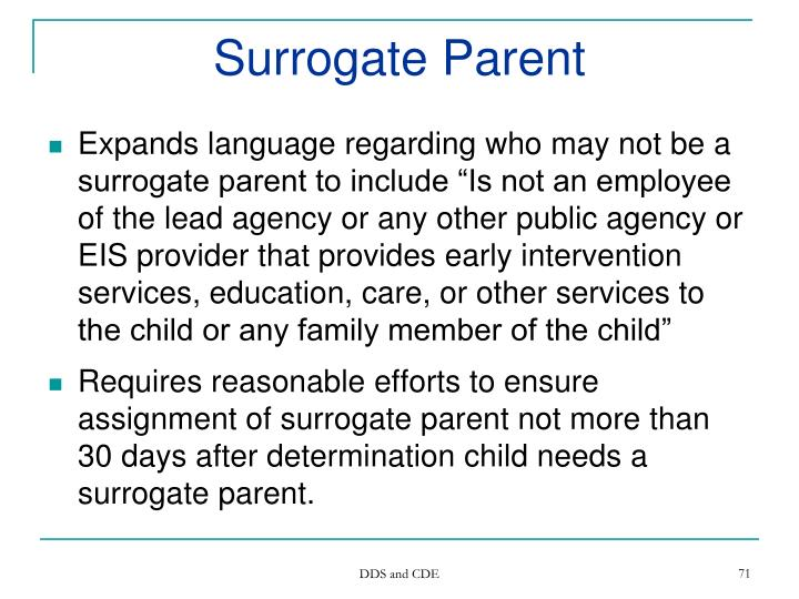 Surrogate Parent