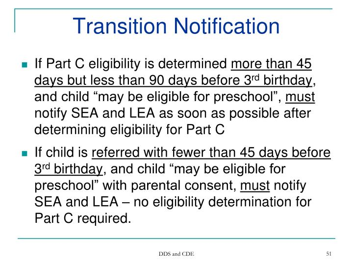 Transition Notification