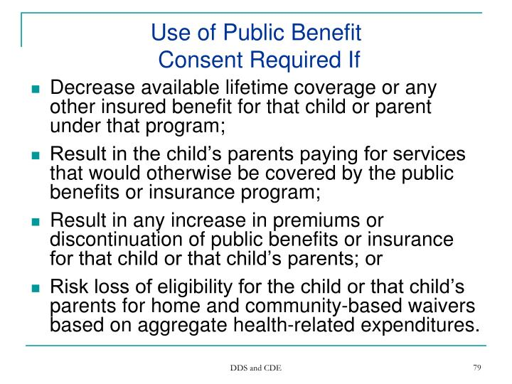Use of Public Benefit