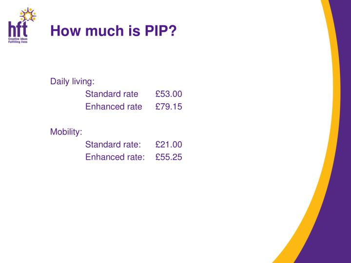 How much is PIP?