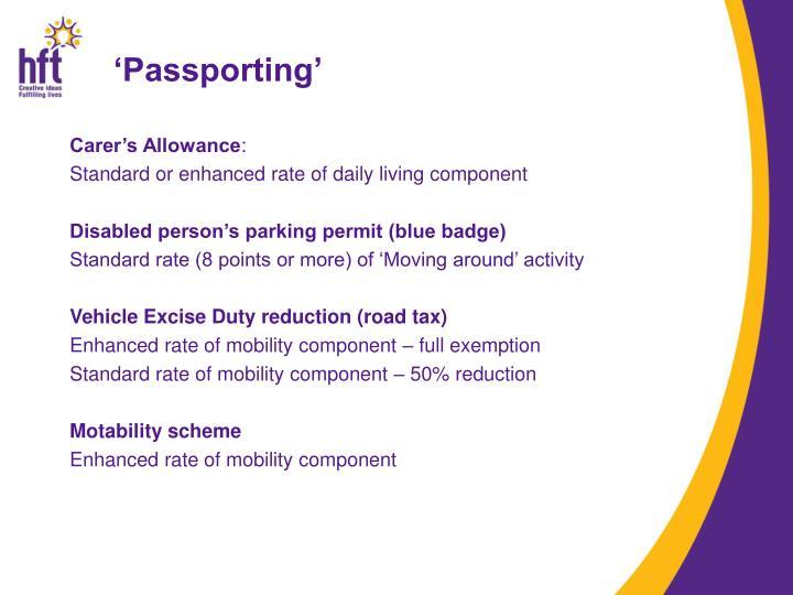 'Passporting'