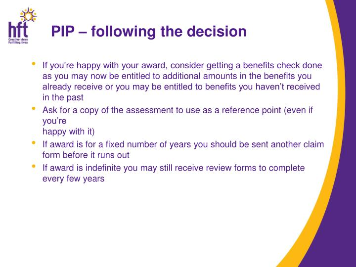 PIP – following the decision