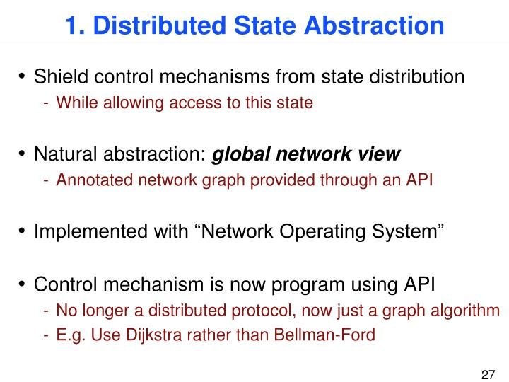 1. Distributed State Abstraction