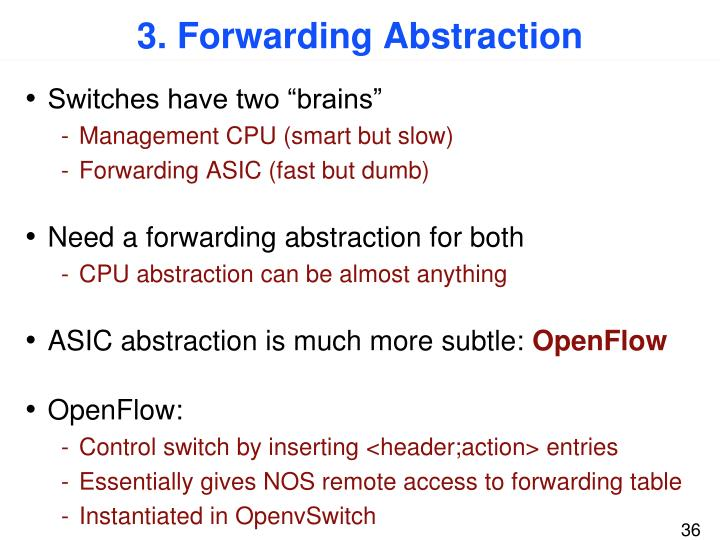 3. Forwarding Abstraction