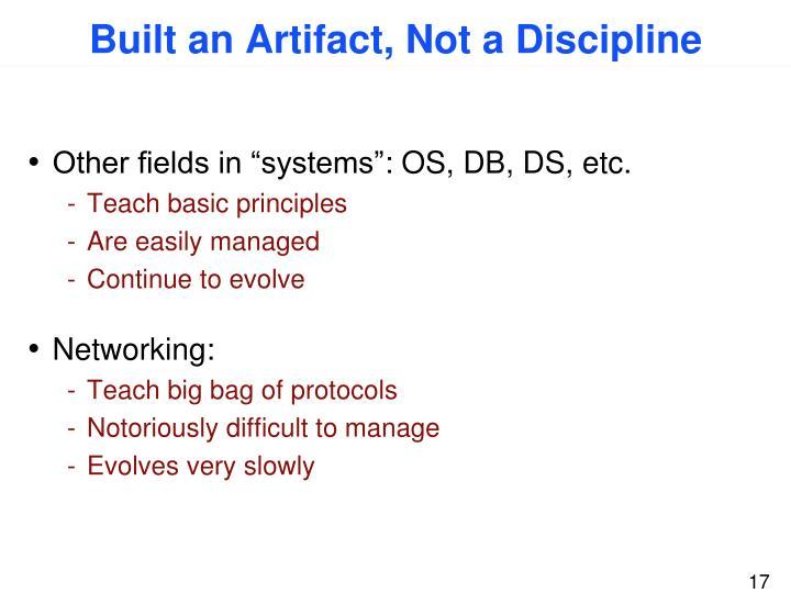 Built an Artifact, Not a Discipline