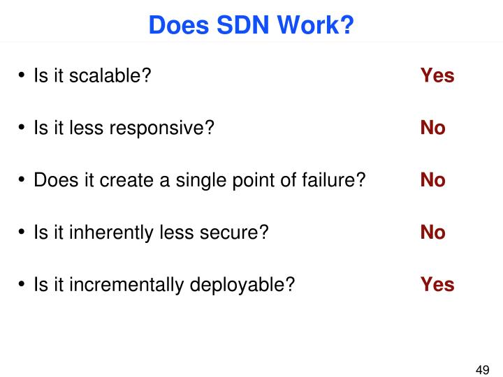 Does SDN Work?
