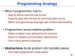 programming analogy