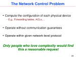 the network control problem