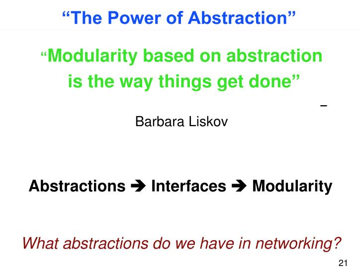 """""""The Power of Abstraction"""""""