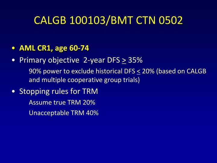 CALGB 100103/BMT CTN 0502