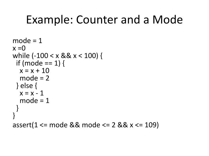 Example: Counter and a Mode