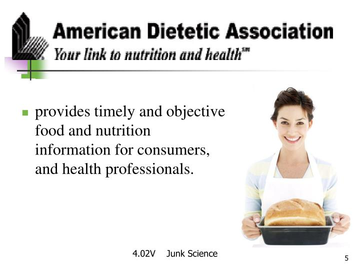provides timely and objective food and nutrition information for consumers,  and health professionals.