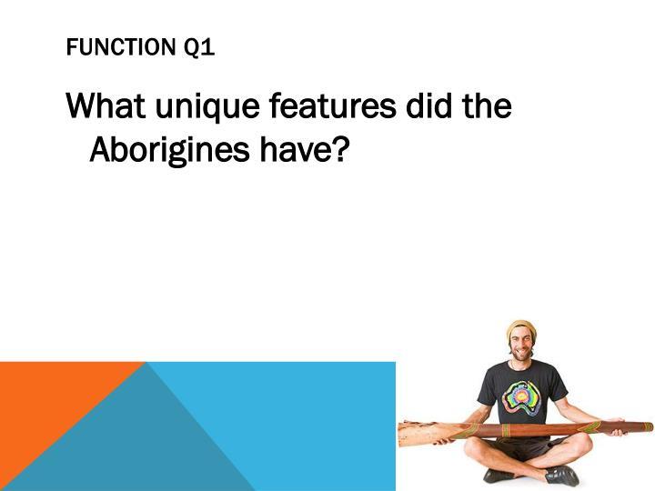 FUNCTION Q1
