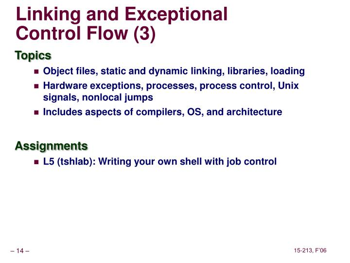 Linking and Exceptional