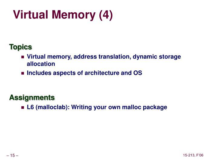 Virtual Memory (4)