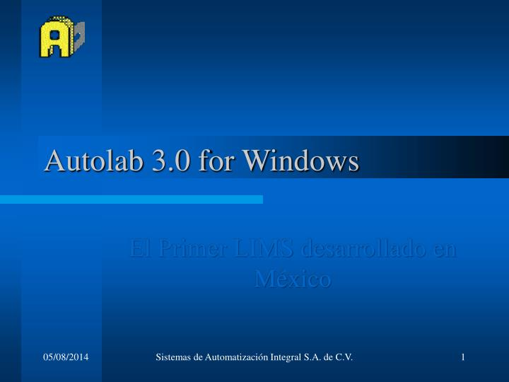 autolab 3 0 for windows