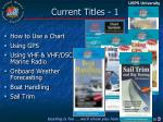 current titles 1