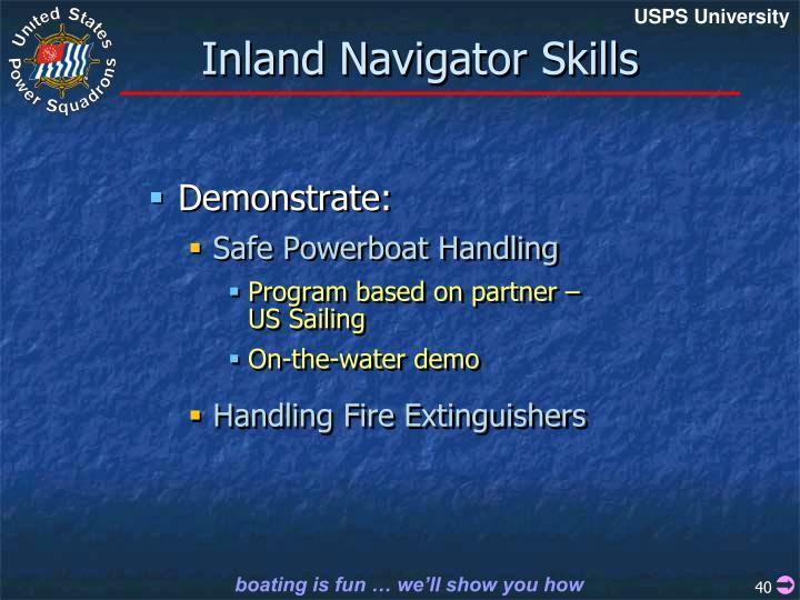 Inland Navigator Skills