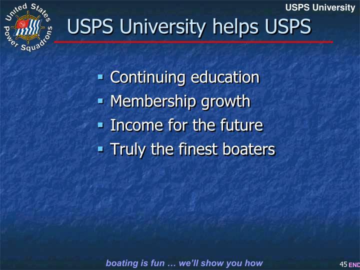 USPS University helps USPS