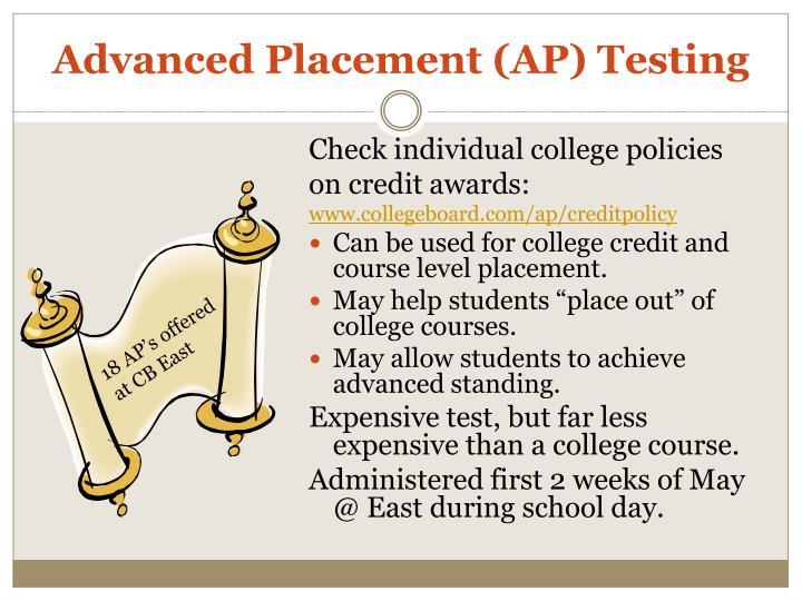 Advanced Placement (AP) Testing