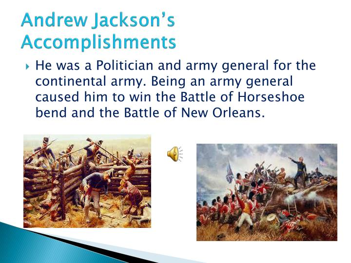 Andrew Jackson's Accomplishments
