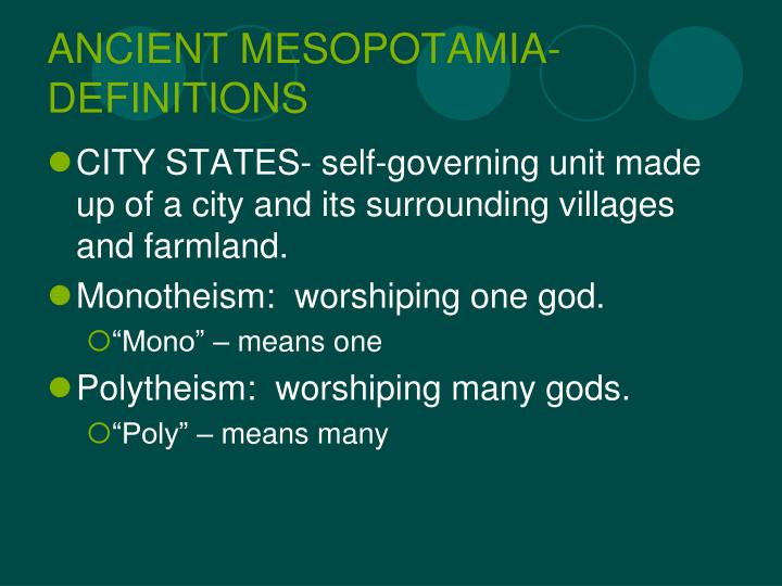 Ancient mesopotamia definitions