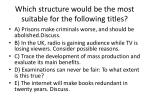 which structure would be the most suitable for the following titles