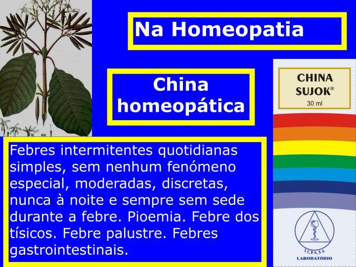 Na Homeopatia