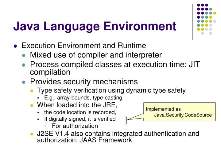 Implemented as Java.Security.CodeSource