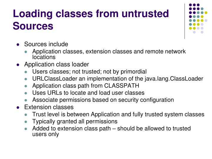 Loading classes from untrusted Sources