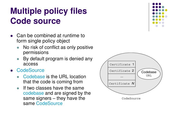 Multiple policy files
