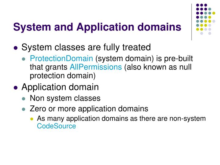 System and Application domains