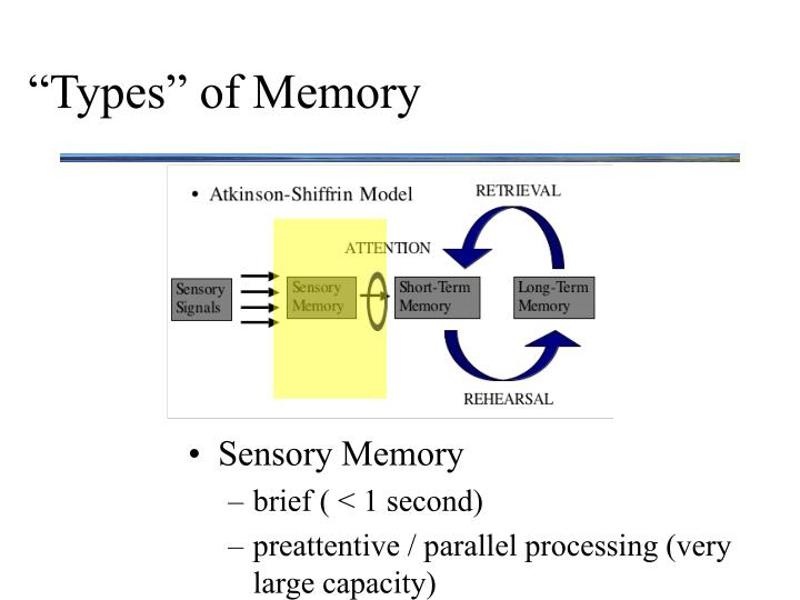 """Types"" of Memory"