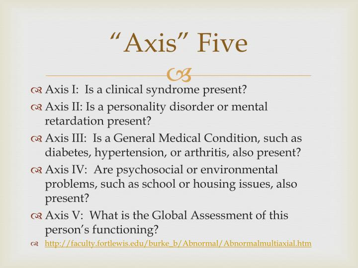 """Axis"" Five"