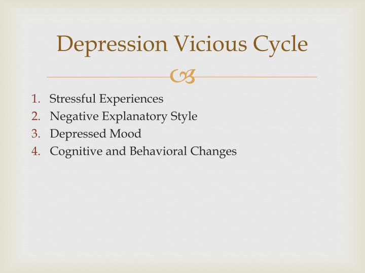 Depression Vicious Cycle