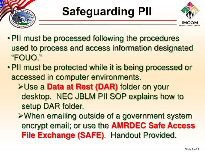 Safeguarding PII