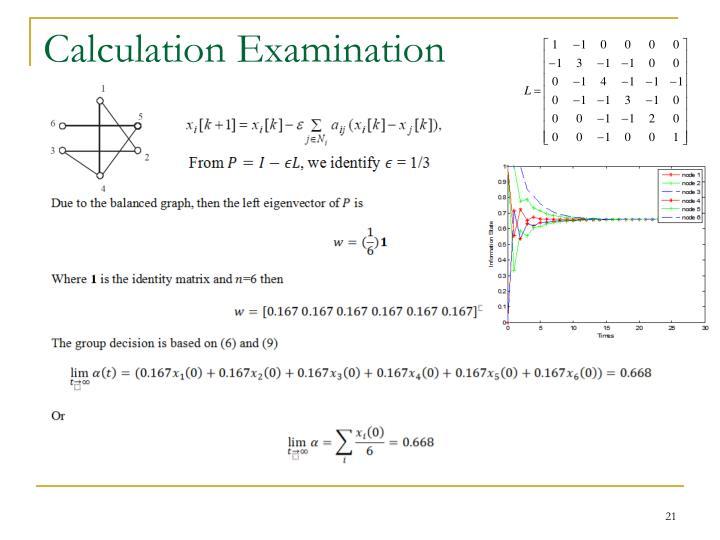 Calculation Examination