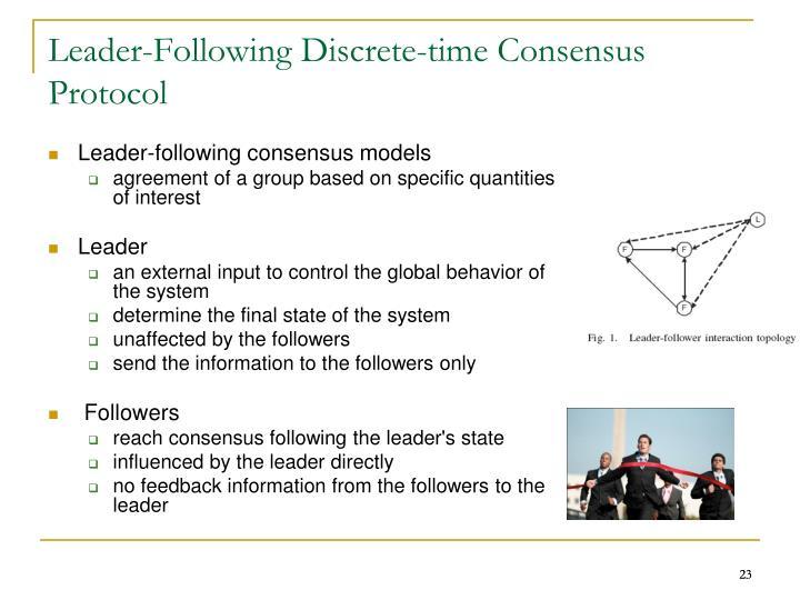 Leader-Following Discrete-time Consensus Protocol