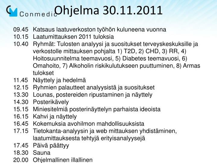 Ohjelma 30.11.2011